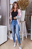 Женская вязаная трехцветная теплая кофта 42-46. (5расцв), фото 4