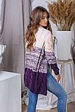 Женская вязаная трехцветная теплая кофта 42-46. (5расцв), фото 7