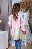 Женская вязаная трехцветная теплая кофта 42-46. (5расцв), фото 8