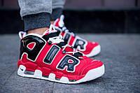 Кроссовки мужские red Nike Air More Uptempo Найк Аир Мор Аптемпо красные