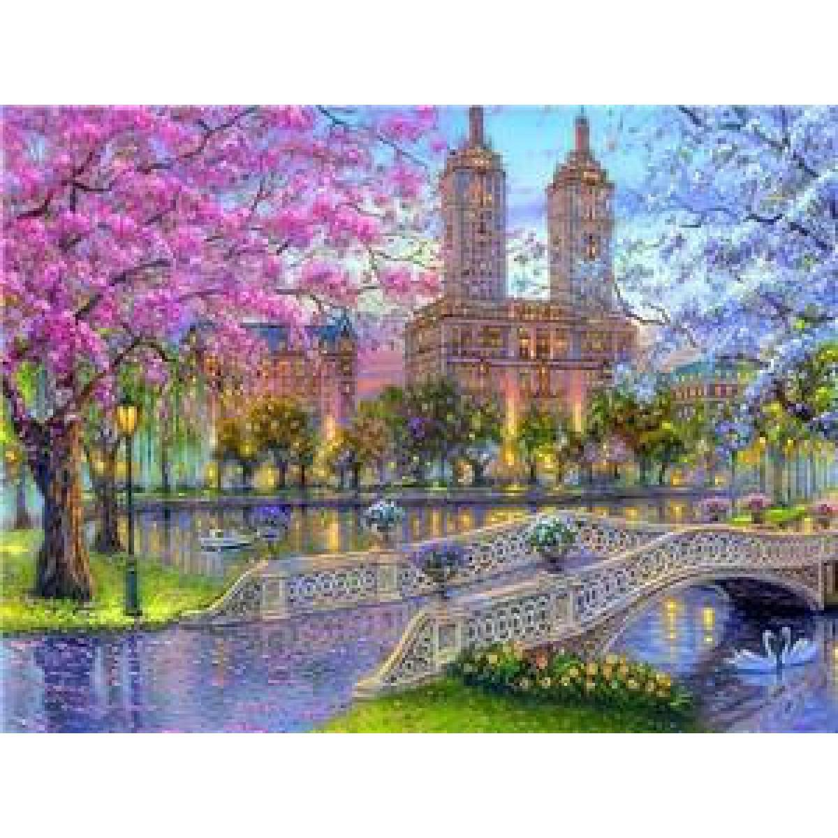 """Картина по номерам на дереве  40*50 """"Парк""""  RSB8470 в подарочной коробке"""