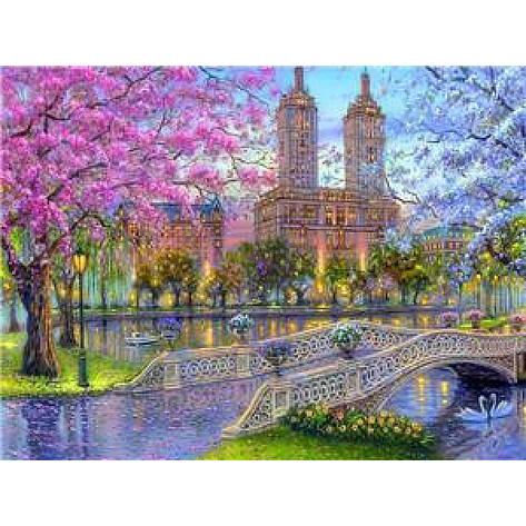 "Картина по номерам на дереве  40*50 ""Парк""  RSB8470 в подарочной коробке, фото 2"