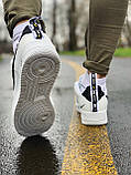 Кроссовки натуральная кожа Nike Air Force Найк Аир Форс(41,42,43,44,45), фото 4