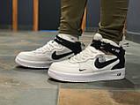 Кроссовки высокие натуральная кожа Nike Air Force Найк Аир Форс (ТОЛЬКО 45 РАЗМЕР), фото 2