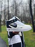Кроссовки высокие натуральная кожа Nike Air Force Найк Аир Форс (ТОЛЬКО 45 РАЗМЕР), фото 3