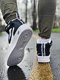 Кроссовки высокие натуральная кожа Nike Air Force Найк Аир Форс (ТОЛЬКО 45 РАЗМЕР), фото 4
