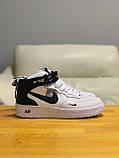 Кроссовки высокие натуральная кожа Nike Air Force Найк Аир Форс (ТОЛЬКО 45 РАЗМЕР), фото 6