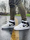Кроссовки высокие натуральная кожа Nike Air Force Найк Аир Форс (ТОЛЬКО 45 РАЗМЕР), фото 9
