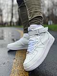 Кроссовки мужские  высокие натуральная кожа Nike Air Force Найк Аир Форс РАЗМЕР (41,44), фото 5