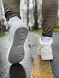 Кроссовки мужские  высокие натуральная кожа Nike Air Force Найк Аир Форс РАЗМЕР (41,44), фото 8