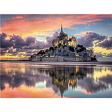 """Картина по номерам на дереве  40*50 """"Замок на острове"""" к RSB8394 в подарочной коробке"""
