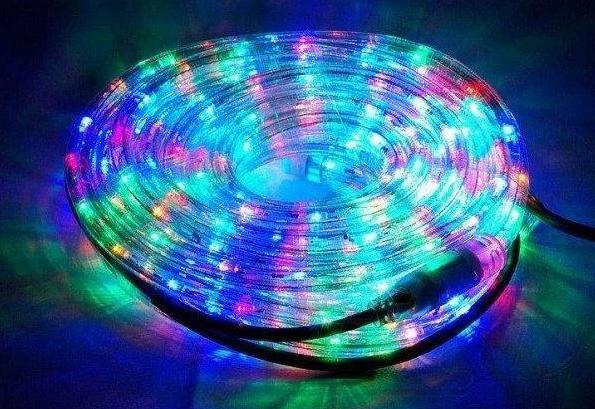 Стрічка світлодіодна LED шланг RGB (Триколірний), 18м, з контролером 220в (7191)