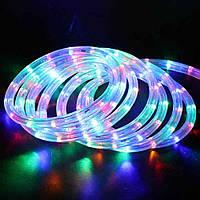 Лента светодиодная, LED  шланг RGB (Трехцветный), 18м, с контролером 220в  (7191), фото 2