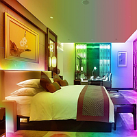 Лента светодиодная, LED  шланг RGB (Трехцветный), 18м, с контролером 220в  (7191), фото 7