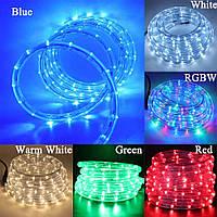 Лента светодиодная, LED  шланг RGB (Трехцветный), 18м, с контролером 220в  (7191), фото 9