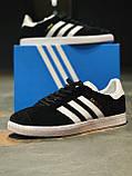 Кроссовки  натуральная замша Adidas Gazelle Адидас Газель (ТОЛЬКО 45 РАЗМЕР), фото 10