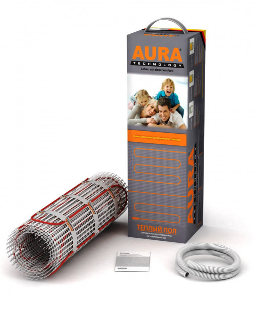 Теплый пол AURA МТА 150 двухжильный нагревательный мат 75 Вт, 0.5 м2