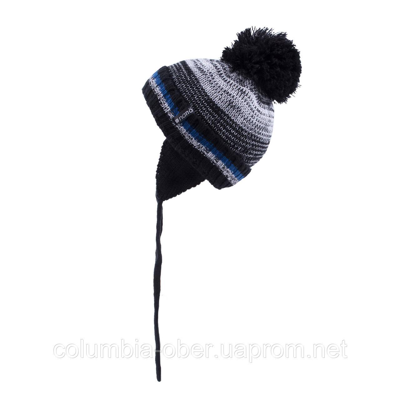 Зимняя шапка для мальчика Nano F19TU265 Black/DustGray. Размеры 2/4 и  5/6X.