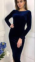 Облегающее платье из бархата 1220D/01