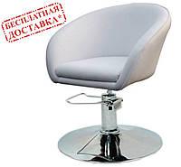 Кресло парикмахерское Мурат P экокожа белая поворотное с гидроподъемником СДМ группа (бесплатная доставка)