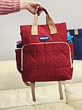 Сумка - рюкзак для мам Chicco Чико  ⏩ красный цвет, фото 2