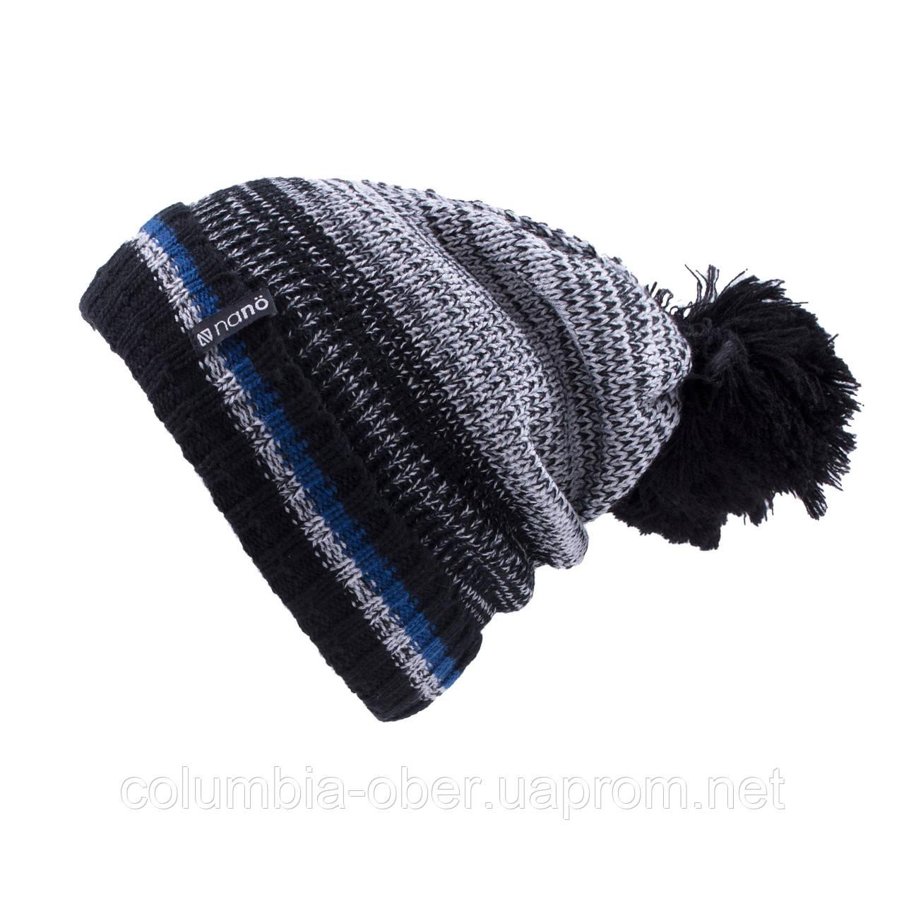 Зимняя шапка для мальчика Nano F19TU265 Black/DustGray. Размер 7/12.