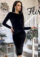Облегающее платье из бархата 1220D/03