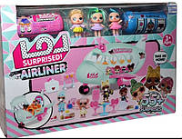 LOL AIRLINER ЛОЛ пассажирский самолет, 3 куклы, 2 капсулы