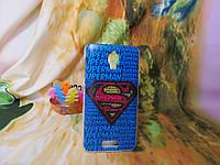 Силиконовый бампер чехол с рисунком для Lenovo S660 Супермен