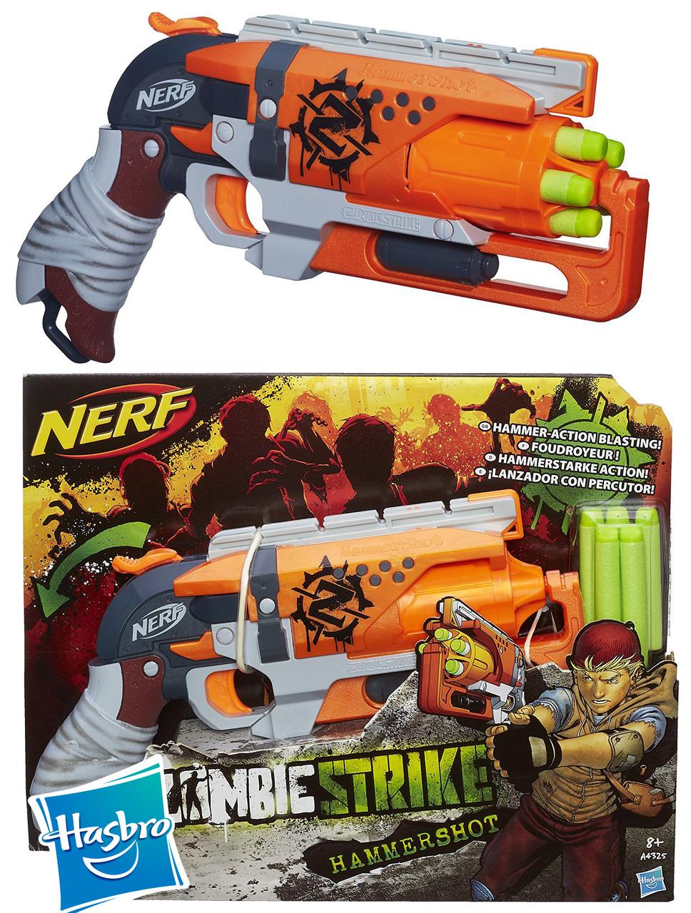 Бластер Nerf Зомби Страйк Хаммершот  Zombie Strike Hammershot