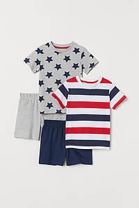 Пижама, для мальчика в полоску H&M (Швеция) р.98/104 (2-4года)