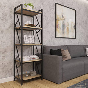 Стеллаж 5-полок Металл-Дизайн Ромбо Лофт 1800х550х400 мм
