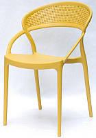 Кресло пластиковое Nelson (Нельсон) желтое 11, модное современное кресло код 9092