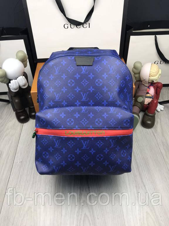 Кожаный рюкзак Луи Виттон   Синий рюкзак Луи Виттон вместительный  Стильный кожаный рюкзак Луи Виттон монограм