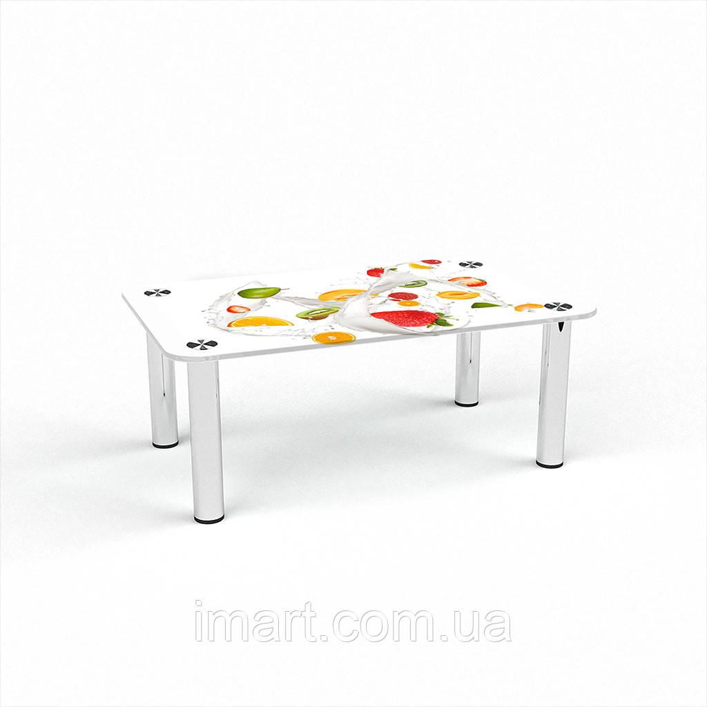 Журнальный стол прямоугольный Milkshake стеклянный