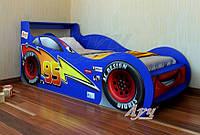 Кровать детская Молния Маквин Луч 80х160 синий