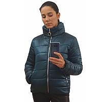 Куртка дутик женская демисезонная, много расцветок, модель Мира, Изумрудная, размеры 42-48