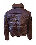 Жіноча демісезонна дута куртка з коміром стійкою і відстібними капюшоном, модель Світу, Чорнильна, фото 6