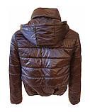 Жіноча демісезонна дута куртка з коміром стійкою і відстібними капюшоном, модель Світу, Чорнильна, фото 9