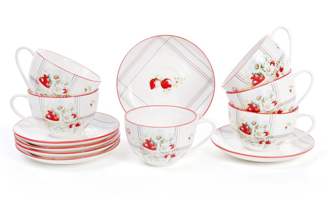 Набор чайный 12 предметов Земляничная фантазия Bona Di 940-131