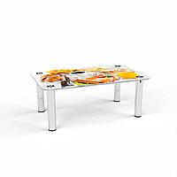 Журнальный стол прямоугольный Nice breakfast стеклянный