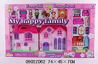 Домик 8032-UC кукольный, с семьей, мебелью, собачкой