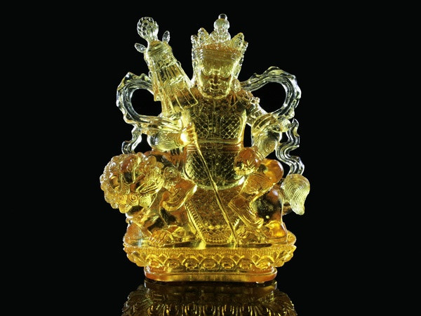 "Статуя Хрустальная Лио Ли. Вайшравана (Дзамбала). Золотая (23х17х10 См) — в  Категории ""Статуэтки"" на Bigl.ua (1114786707)"