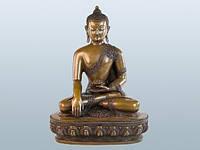 Статуя. Бронза. Будда Шакьямуни. Атл (27х20х13 см) Оксид