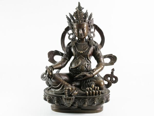 Статуя. Бронза. Дзамбала (Будда Богатства) 45х34х23 см