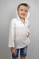 Рубашка белая батистовая для мальчика (104 - 116) - пляжная одежда для детей, туники, панамы, рубашки