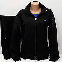 Женский спортивный костюм Турция, Linke, чёрный, большой размер.