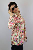 """Туника из штапеля """"Венеция"""" женская (50 размер) - пляжная одежда для детей, туники, панамы, рубашки"""
