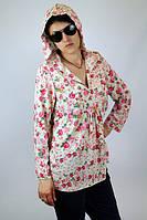 """Туника из штапеля """"Розы"""" женская (50 размер) - пляжная одежда для детей, туники, панамы, рубашки"""