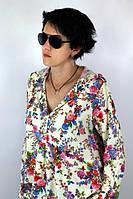 """Туника из штапеля """"Цветы"""" женская (52 размер) - пляжная одежда для детей, туники, панамы, рубашки"""